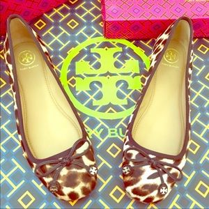NWB💕Tory Burch Haircalf Driver Ballet Flats
